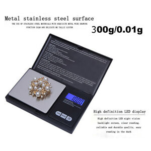 300g0.01g High Precision Digital Electronic Scale for Jewelry Reloading Kitchen