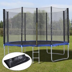 12 FT Round Trampoline with Enclosure Net W Spring Pad Ladder Upgrade TO