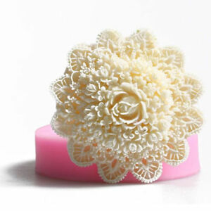3D Silicone Lace Flower Fondant Mold DIY Cake Decor Sugarcraft Baking Mould