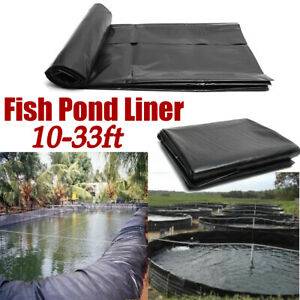 10-33ft Fish Pond Liner Garden Pool HDPE Membrane Reinforced Landscaping USA
