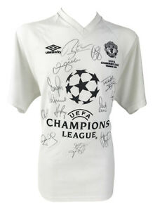 SIGNED MANCHESTER UNITED SHIRT - CHAMPIONS LEAGUE WINNERS 1999 + *CERTIFICATE*