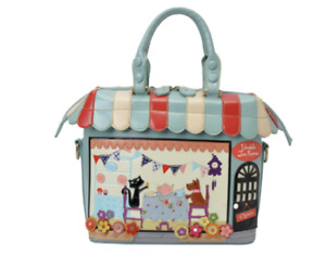 Vendula London cute women bag with HIGH TEA ROOM women youth shoulder bag