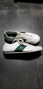 Lacoste Men's White Leather Sneakers Shoes Size 10 US 44.5 EU
