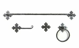 Rustic Spanish Club Wrought Iron Bathroom Hardware Set BHC2