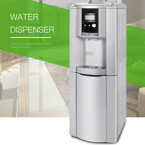 Electric Hot Cold Water Cooler Dispenser Stainless Steel Top Loading 5 Gallon