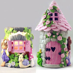 3D Fairy House Door Silicone Mold Fondant Chocolate Soap Mould Cake Decor Tools