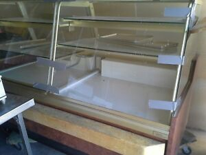 Candy display case non-refrigerated for pastries chocolates 8 ft