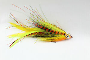 Masked Deceiver Fly for Big Game Muskie Pike Bass Striper Saltwater Streame