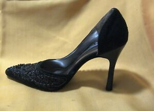 Anne Michelle Stunning Sequins and Beads. Sexy Black 3.5 Inch Heels. Size 5.5 $15.97