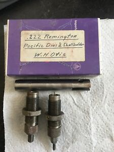 Pacific Reloading 222 Remington  2 Die Dies  Set and shell holder