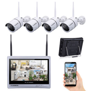 8CH 4CH IndoorOutdoor WirelessWired 1080P Security CCTV IP Camera System Kit