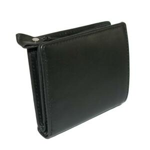 New Winn International Men's Leather with Zippered Coin Pocket Wallet
