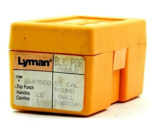 Lyman #2645500 - 50 cal round ball mould mold .500 Dia. (#3808)