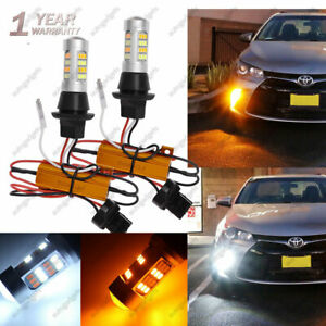 2X LED Signal Switchback Parking Lights W Resistor Front DRL for Toyota Camry $21.55