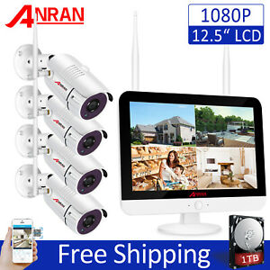 ANRAN Wireless Security Camera System 1080P 1TB Hard Drive Home Security 12