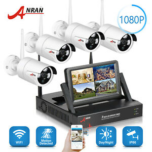 ANRAN 1080P Security Camera System Wireless Home Safety 4TB HDD CCTV Waterproof