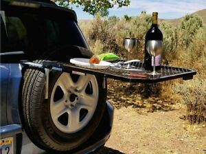 Tailgater Tire Table w Steel Mesh Surface Attaches to Tire 23