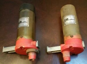 2 Vintage Pacific (Hornady) Pistol Powder Measures w 12 bushings