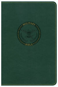 CSB Military Bible (For Soldiers)-Green LeatherTouch