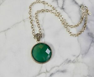 Barse green natural onyx & bronze pendant necklace from Thailand
