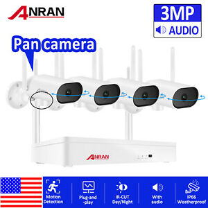1080P ANRAN Outdoor Security Camera System Wireless HDMI 8CH NVR CCTV Waterproof