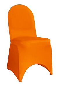 6 Pack Spandex Chair Cover Orange, Banquet Chair Covers,Stretch Slip Covers