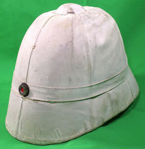 WW1 Original Imperial German Navy Officer's Tropical Helmet