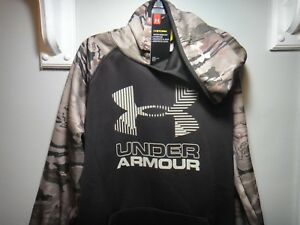 Under Armour Boys Strom Pull Over Barren Camo Hoodie Water Resistant Size YXL