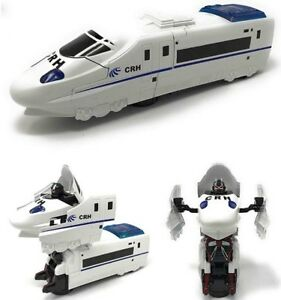 Transformer Train Bump Go Action Two In One Bullet Train 4 Wheels Robot Light