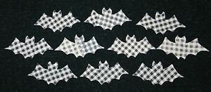 10 PRIMITIVE ANTIQUE CUTTER QUILT BATS! FallAutumn Scrapbooking! HALLOWEEN