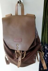 TM1985 Full Grain Leather Backpack (Brown) Womens Made in Brooklyn