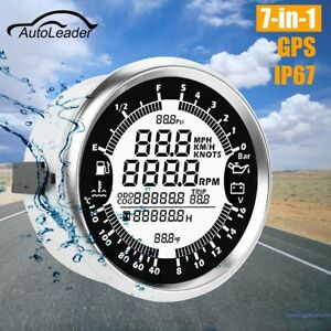 999MPH GPS Digital Speedometer Odometer Gauge for ATV Car Truck Boat Waterproof