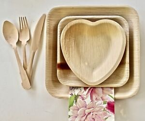 Palm Set 30Knife Spoon Fork 10 Pic 9#x27;quot; 10 Pic 6x4 and 10 Pic 6 for Wedding