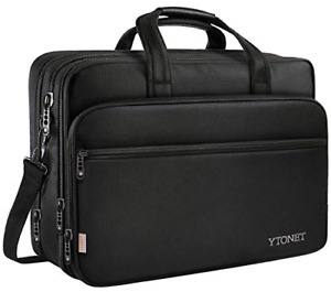 17 inch Laptop Bag Travel Briefcase with Organizer Expandable Large Hybrid for