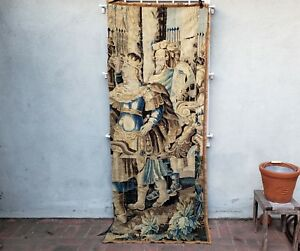 An Early Tapestry with Soldier and King