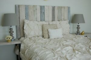 Farmhouse Mix Design - King Size Hanger Handcrafted Headboard.
