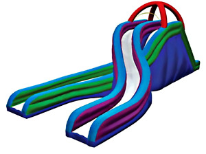 60x30x25 Commercial Inflatable Water Slide Obstacle Bounce House We Finance 100%