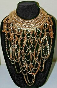 #73 NATASHA COUTURE SUPERLATIVE STATEMENT BIB NECKLACE  MSRP$75