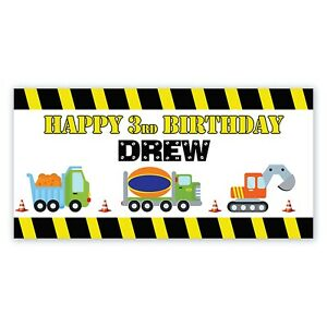 18quot;x48quot; Under Construction Party Personalized Banner Under Construction Party