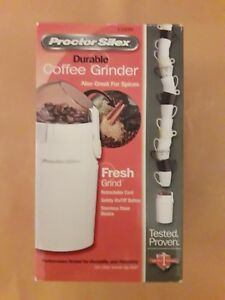 Proctor Silex Durable Coffee Grinder Model E106BY