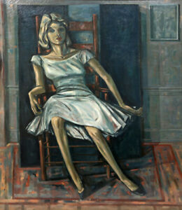 Edith Varian Cockroft Girl in a White Dress Oil Painting