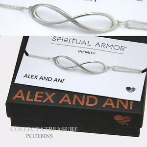 Authentic Alex and Ani Infinity Pull Chain PRECIOUS METALS Silver Bracelet