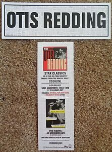 OTIS REDDING Stax Classics BOOKMARK Promo 2-Sided Jonathan Gould Biography