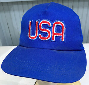 USA Big Letter Logo Patriotic Union Made in The USA Snapback Baseball Cap Hat