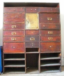 Apothecary Watchmaker's Jeweler's Cabinet W Safe Ephemera Tools Country Store