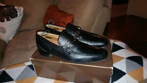 GUCCI Designer Mens Horsebit Dress Loafers Shoes black sz 11