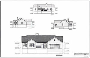 Full Set of single story 2 bedroom accessible house plans 1688 sq ft