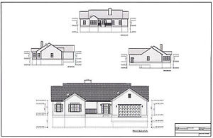 Full Set of single story 2 bedroom accessible house plans 1,688 sq ft