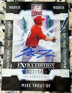 MIKE TROUT 2009 Donruss Elite Rookie Card RC SP 27149 Angels ROY MVP Reprint
