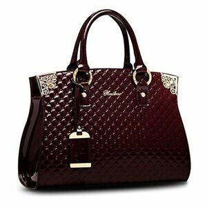 Women Patent Leather Handbags Designer Totes Purse Satchels Shoulder top handle